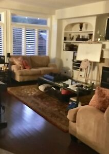 Couch/Loveseat, ottoman, new drapes