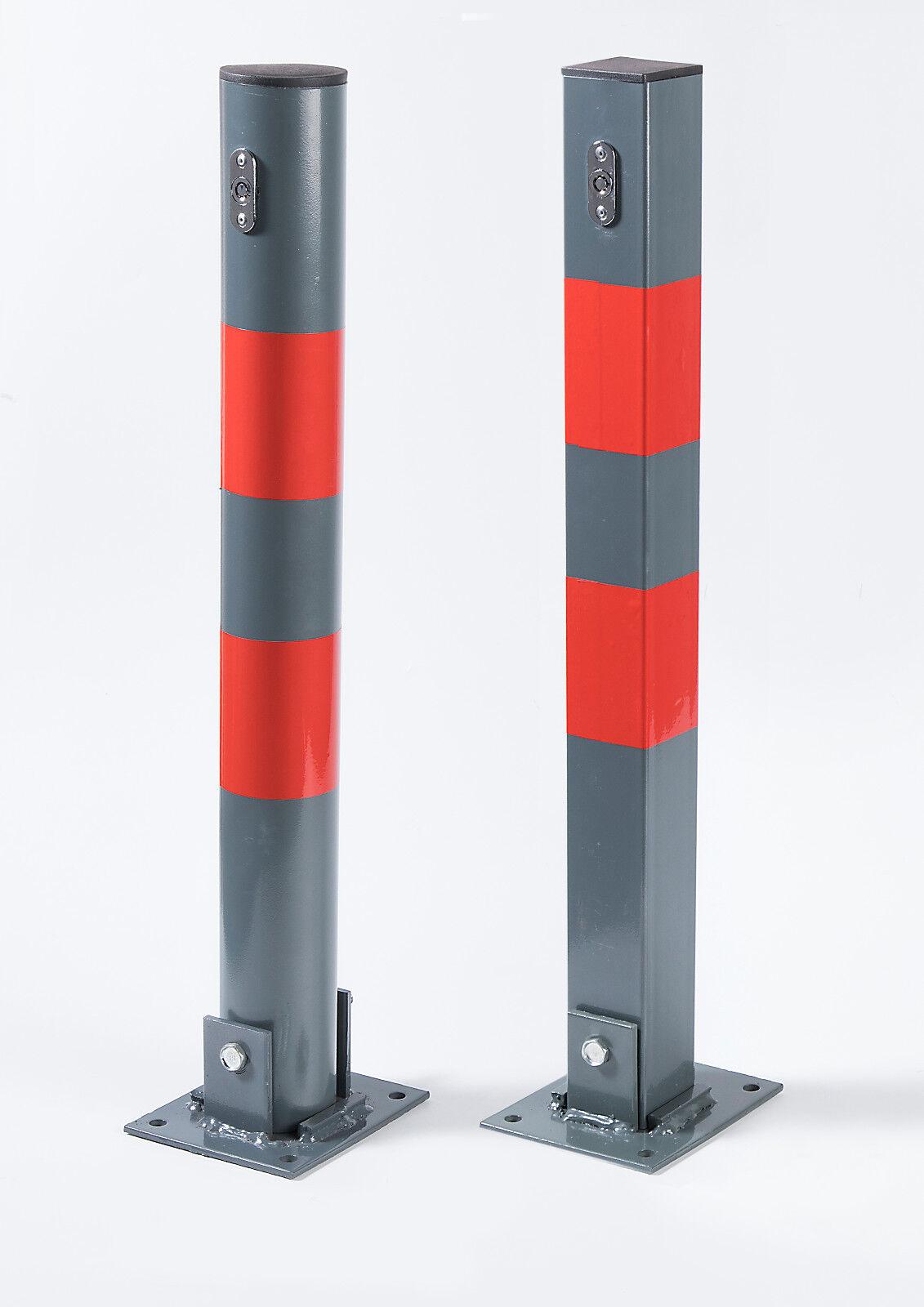 parkpfosten klappbar parkplatzsperre absperrpfosten 67cm hoch inkl