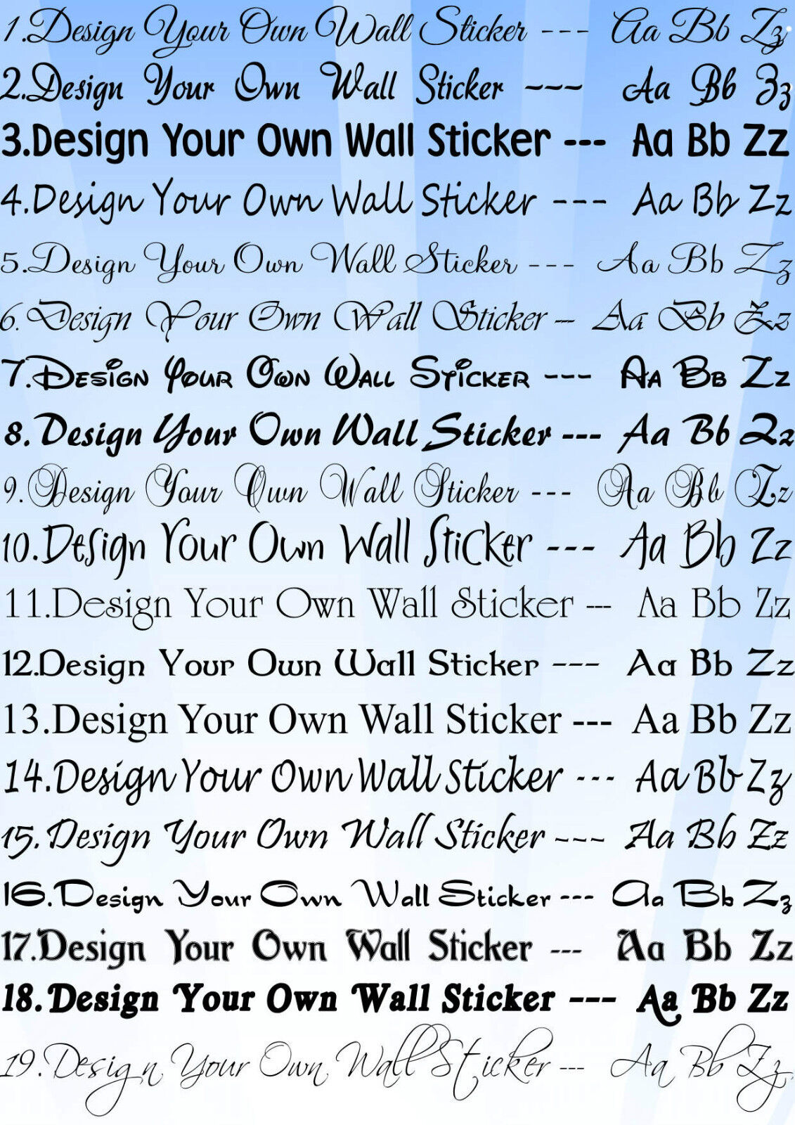 design your own wall art quote decor sticker 15 wordsebay - Wall Stickers Design Your Own