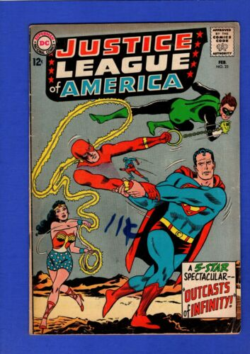 JUSTICE LEAGUE OF AMERICA #25 FN- SILVER AGE DC KEY