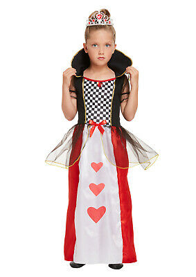 Queen of Hearts Childrens Book Day Ideas Fairy Tale Girls Fancy Dress Costume - Costumes For Girls Ideas