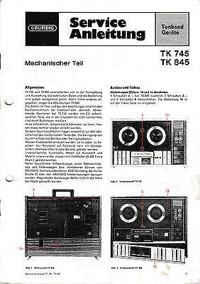 Service Manual-Anleitung für Grundig TK 745/TK 845