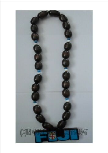 Fiji Wooden Bead Necklace/ Fijian Flag/Fiji -Unisex necklace.Almost sold out.