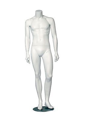 Headless Male Adult Fiberglass Display Mannequin - White Matte Finish