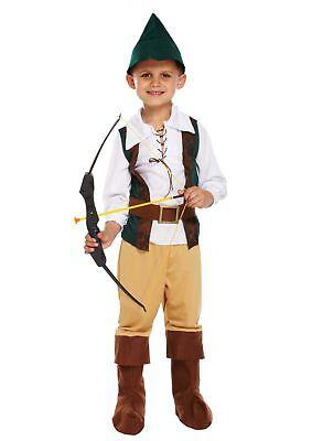 BOYS HUNTER ROBIN HOOD FANCY DRESS COSTUME MEDIEVAL PETER CHILDS PAN ARCHER KIDS