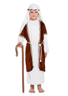 BOYS SHEPHERD BROWN COSTUME SCHOOL NATIVITY PLAY FANCY DRESS 4-12 YEARS