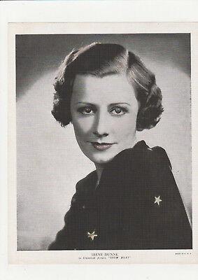 Irene Dunne 1930's Vintage Publicity Shot