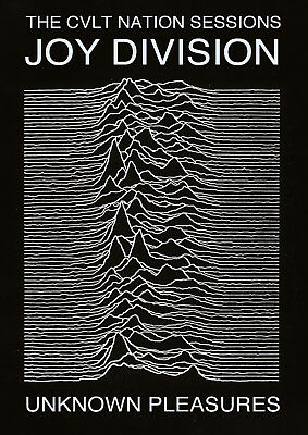 "Reproduction ""Joy Division"" Poster, Unknown Pleasures, Ian Curtis, Manchester"