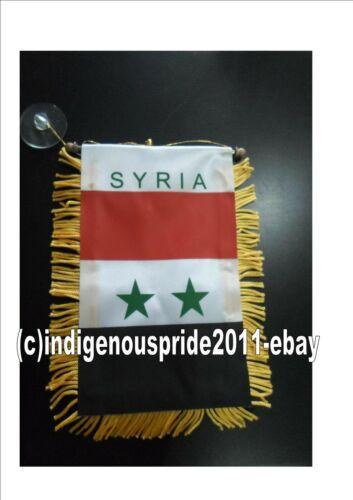 Syria Flag/Syrian National Mini Car banner 4 car mirror or window.Great gift.