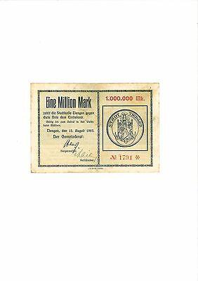 Rupertus 309.5a  Notgeldschein Stadt Tiengen 1 Mio Mk  15.8.1923