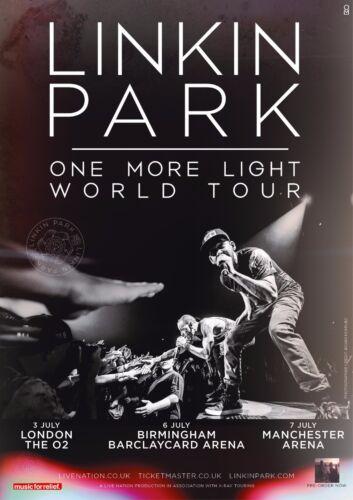"LINKIN PARK ""ONE MORE LIGHT TOUR"" 2017 UNITED KINGDOM CONCERT POSTER -3 UK Dates"