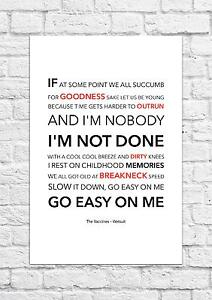 The Vaccines - Wetsuit - Song Lyric Art Poster - A4 Size