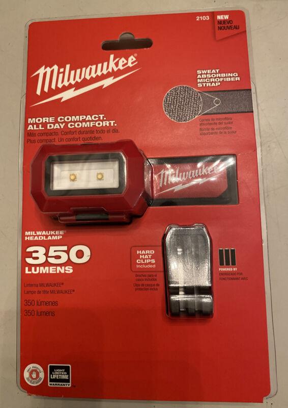 New Milwaukee 2103 LED 350 Lumens Headlamp Strap Water Resistant Light