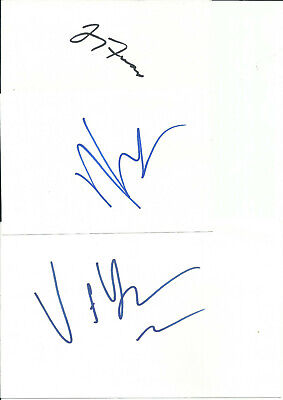 JERRY FERRARA, KEVIN CONNELLY VINCENT YOUNG VINTAGE IN-PERSON SIGNED CARD LOT - $2.95