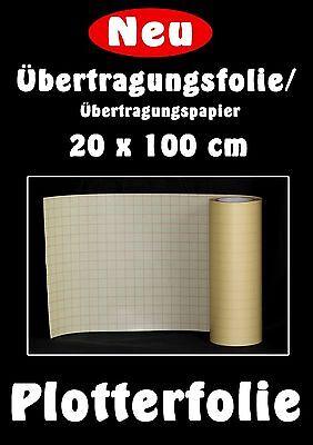 (9,95€/m²) POLI-Tape 165 Übertragungsfolie/Papier, 20x100cm, ideal für  A4