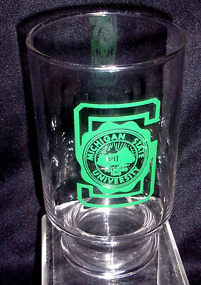 Michigan State Logo Glass Container