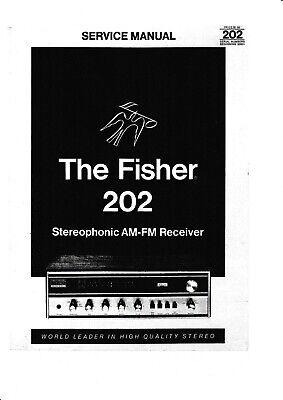 Service Manual-Anleitung für Fisher 202