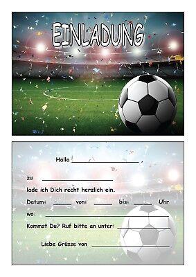 Einladungskarten Kinder Geburtstag Einladungen Fussball Soccer Stadion Ball