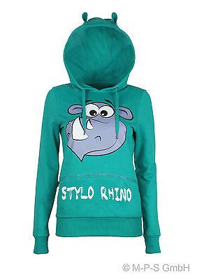 Sublevel Damen Sweatshirt STYLO RHINO Kapuze mit Ohren Eight2Nine