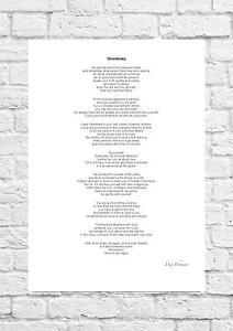 Max Ehrmann - Desiderata - Inspiring Poem - A4 Size
