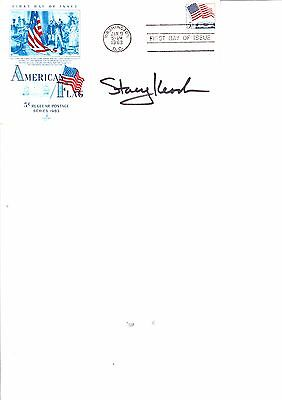 STACEY KEACH HAND SIGNED WASHINGTON FIRST DAY COVER