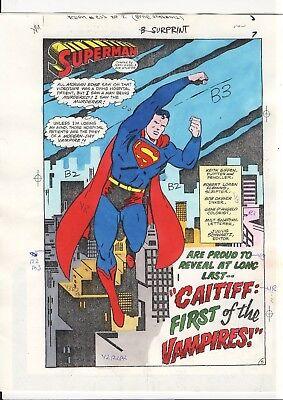 Caitiff Vampire (Hand-Colored Color Guide SPLASH Page   CLASSIC SUPERMAN  vs. CAITIFF)