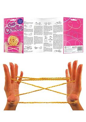 CATS CRADLE BOYS GIRLS TOYS PARTY BAG FILLERS BIRTHDAY TOY KNOTTY FINGERS STRING