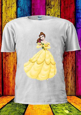 Disney Bella (Disney Princess Bella The Beast Beauty T-shirt Vest TankTop Men Women Unisex 436)