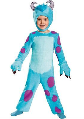 Disney Monsters University U SULLEY Costume Size 3-4 T New 3 4 Toddler w Hands