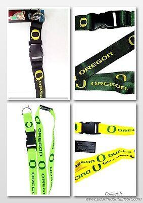 OREGON DUCKS NCAA LANYARD KEYCHAIN/ KEYS /BADGE HOLDER YOU PICK THE COLOR (Ncaa Oregon Ducks)