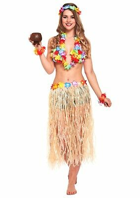 Adult Female Hawaiian Fancy Dress Dressing Up Outfit Costume Hen Do NEW ()