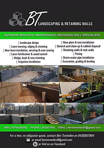BT landscaping and retaining walls Huntfield Heights Morphett Vale Area Preview