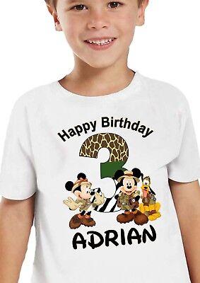 Mickey Mouse Safari Birthday Shirt Personalized Custom Name Inspired MickeyMouse