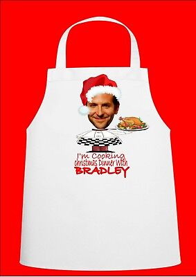 Bradley Cooper Novelty Christmas Chefs Apron Secret Santa Gift Novelty Apron ()