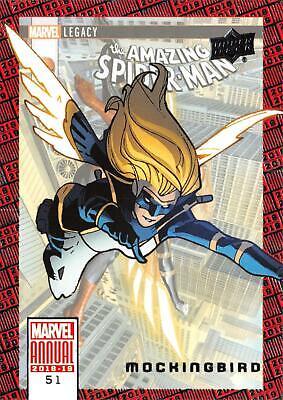 Marvel Masterpieces 2018 Tier 1 Base Card 24 Mockingbird 1999