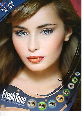 Lentilles de couleur FRESH tone contact lenses* Vendeur Français* 1 year