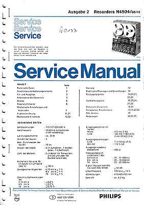 Service Manual-Anleitung für Philips N 4504
