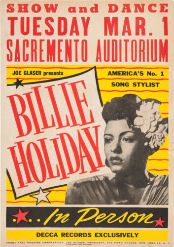 Reproduction Billy Holiday Poster, Home Wall Art, Vintage Print