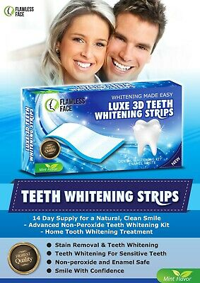 28 Strips Professional Teeth Whitening Safe Tooth Bleaching ICE White 14 Days UK