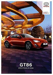 Toyota GT86 05 / 2016 catalogue brochure - <span itemprop='availableAtOrFrom'> Varsovie, Polska</span> - Toyota GT86 05 / 2016 catalogue brochure -  Varsovie, Polska