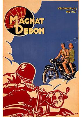 1950's Magnat Debon motorcycles poster