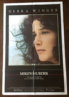 WINGER,DEBRA-Firsthand MOVIE POSTER:MIKE'S MURDER-PAUL WINFIELD,MARK KEYLOUN-1983
