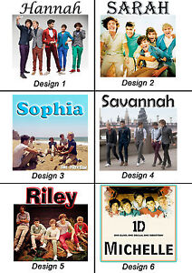 Personalised One Direction Mug - w/ name or msg - Great Gift Idea - Many designs