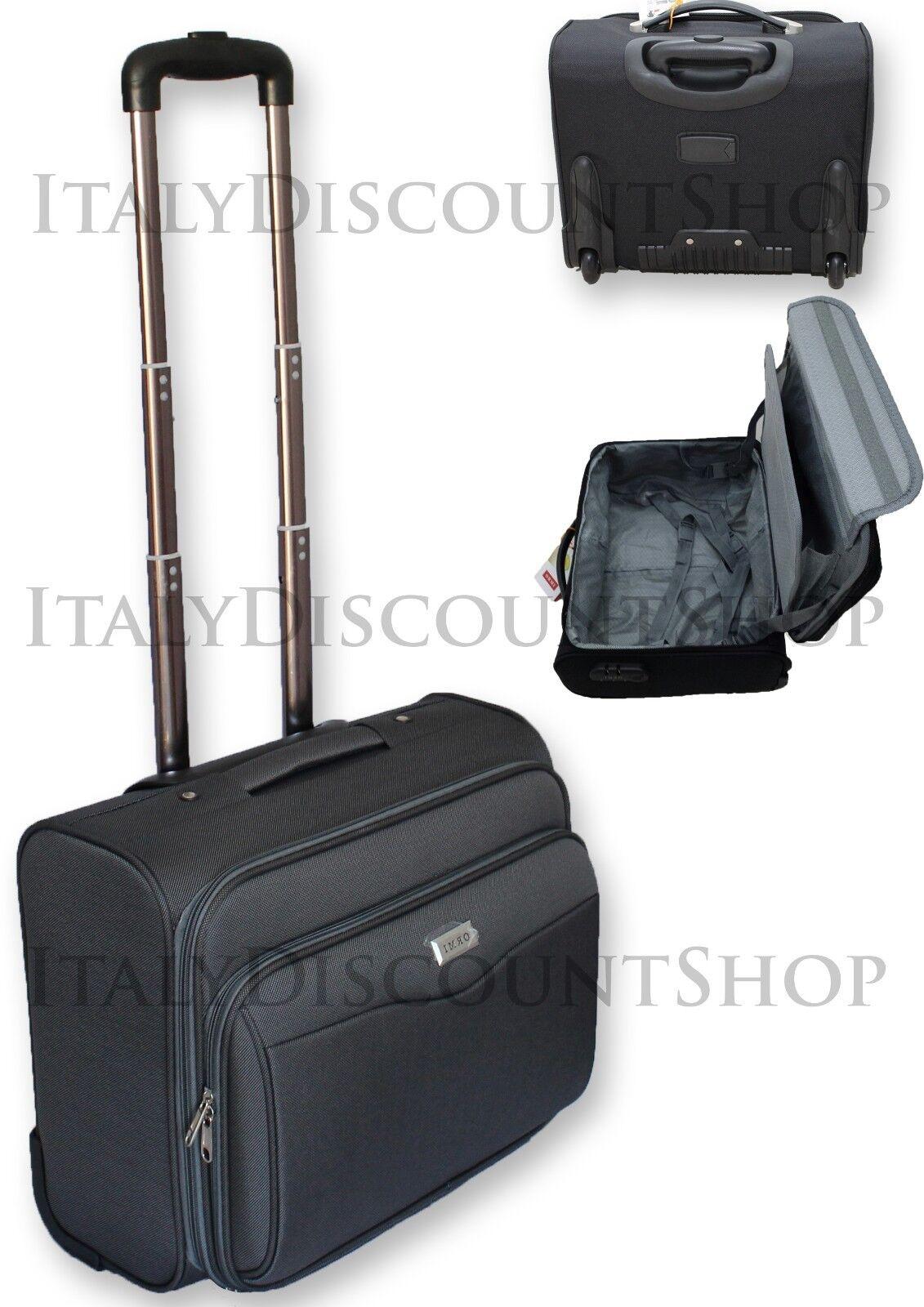 VALIGIA TROLLEY BAGAGLIO A MANO PILOTA BUSINESS TASCA PC