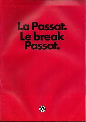 Catalogue publicitaire VOLKSWAGEN PASSAT LE BREAK PASSAT GL CL C 1983