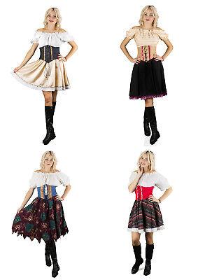 Trachtenkleid Dirndl  Karneval Kostüm Fasching Kleid Oktoberfest - Dirndl Kleid Kostüm