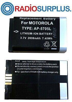 50x Ap5705l Battery For Dtr620 Motorola Radio 2000mah