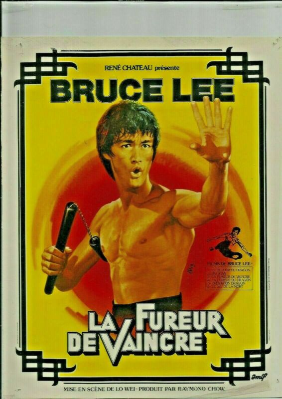 1979 - the FURY of VAINCRE- BRUCE LEE, Ren CHATEAU- back letter to the...