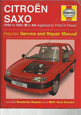 Haynes NEW Citroen Saxo Petrol Diesel VTR VTS Service & Repair Manual N to 54
