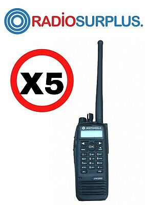 5x Motorola Xpr6580 800mhz Radio And Antenna Aah55uch9lb1an